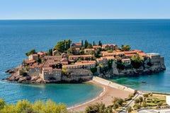 St Stephan de Sveti Stefan de la isla en Budva, Montenegro fotografía de archivo libre de regalías