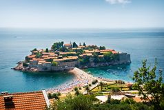 St. Stephan island in Adriatic Sea Stock Images