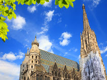 St Stephan kathedraal in Wenen Stock Foto