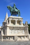 St. Stephan statue. Statue of St, Stephan, the first Hungarian king, Budapest, Hungary royalty free stock photo