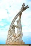St StephenÂ的加冕雕象 免版税库存照片