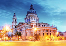 St. Stephen basilica in Budapest royalty free stock photography