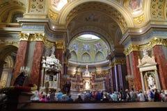 St Stephen Basilica, Budapest Immagine Stock Libera da Diritti