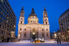 St. Stephen basilica of Budapest Stock Photos