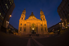 St Stephen Basilica fisheye Stock Images