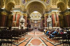 St Stephen Basilica Interior in Boedapest royalty-vrije stock afbeeldingen