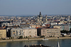 St. Stephen Basilica - view of Buda Castle Royalty Free Stock Images