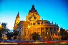St Stephen basilika i Budapest, Ungern Fotografering för Bildbyråer