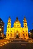 St Stephen basilika i Budapest, Ungern Royaltyfria Bilder