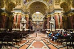 St Stephen bazyliki wnętrze w Budapest obrazy royalty free