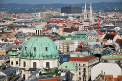 From St Stephen Cathedral the city of Vienna Stock Photo