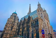 St Stephen Cathedral on Stephansplatz Vienna. St Stephen Cathedral on Stephansplatz, Vienna, Austria stock images