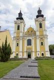 St Stephen Cathedral in Szekesfehervar, Hongarije Stock Foto's