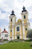 St Stephen Cathedral in Szekesfehervar, Hongarije Stock Afbeelding