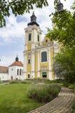 St. Stephen Cathedral in Szekesfehervar, Hungary. The baroque St. Stephen Cathedral in Szekesfehervar, Hungary Stock Image