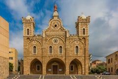 St Stephen domkyrka Batroun Libanon royaltyfria bilder