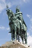 St. Stephen emperor statue in Budapest Stock Photos