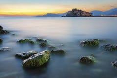 St Stephen & x27; ilha de s no por do sol Imagem de Stock