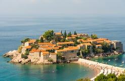 St Stephen Insel in Montenegro Lizenzfreie Stockfotos