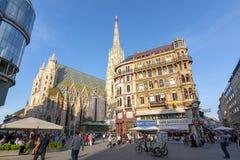 St Stephen katedra w centrum Wiedeń, Austria fotografia stock