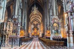 St Stephen kathedraal in Wenen stock fotografie