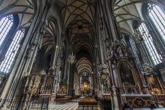 St Stephen Kathedraal in Wenen stock foto
