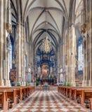 St. Stephen Kathedraalbinnenland, Wenen, Oostenrijk Stock Foto