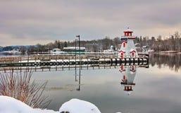 St Stephen Lighthouse nell'inverno Fotografia Stock Libera da Diritti