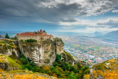 St. Stephen monastery in The Meteora Royalty Free Stock Images
