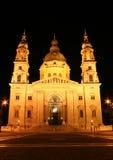 St Stephen's Basilica. Night shot of St Stephen's Basilica in Budapest, Hungary Royalty Free Stock Image