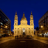 St. Stephens Basilica in the blue hour, Budapest, Hungary Stock Photography