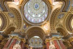 St. Stephen's Basilica (Budapest) Royalty Free Stock Images