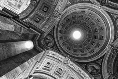 St. Stephen's Basilica, Budapest (monochrome) Stock Photos