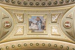 St. Stephen's Basilica, close-up of Jesus fresco Royalty Free Stock Photo
