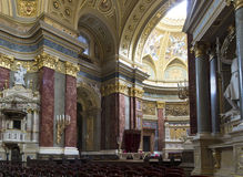 St. Stephen's Basilica, interior panorama Royalty Free Stock Photos