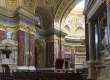 St. Stephen's Basilica, interior panorama Royalty Free Stock Photos