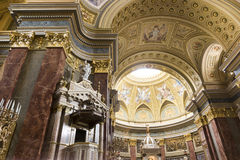 St. Stephen's Basilica, interior panorama Stock Photography