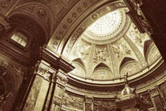 St. Stephen's Basilica, interior panorama Royalty Free Stock Images