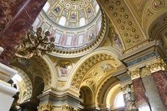 St. Stephen's Basilica, interior panorama Royalty Free Stock Photo
