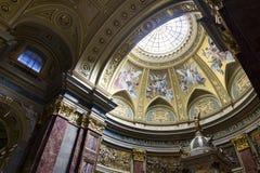 St. Stephen's Basilica, interior panorama Stock Image