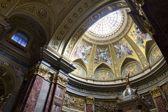 St. Stephen's Basilica, interior panorama Royalty Free Stock Photography