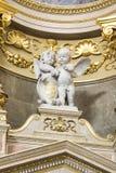 St. Stephen's Basilica interior with statue Stock Photo