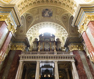 St. Stephen's Basilica, pipe organ Stock Photos