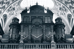 St. Stephen's Basilica, pipe organ Royalty Free Stock Photo
