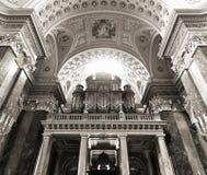 St. Stephen's Basilica, pipe organ Stock Photos