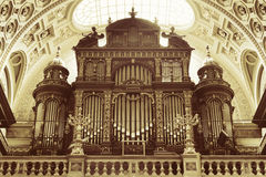 St. Stephen's Basilica, pipe organ Royalty Free Stock Images