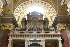 St. Stephen's Basilica, pipe organ Stock Images