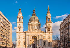 St. Stephen's Basilica is a Roman Catholic basilica in Budapest, Hungary. BUDAPEST, HUNGARY - FEBRUARY 20, 2016: St. Stephen's Basilica is a Roman Catholic Royalty Free Stock Image