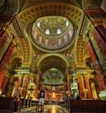 St Stephen ` s Basiliek Boedapest Hongarije royalty-vrije stock afbeelding