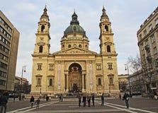 St Stephen ` s Basiliek in Boedapest, Hongarije Stock Afbeeldingen